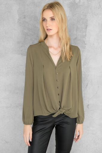Justina Buttoned Blouse