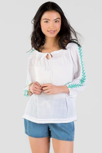 Cadence Embroidered Blouse