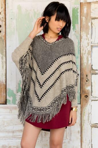 Georgina Fringe Poncho Sweater