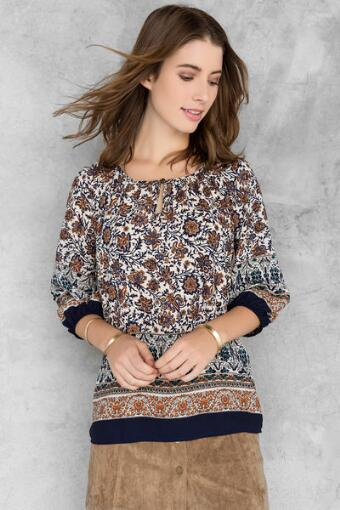 Helina Printed Blouse