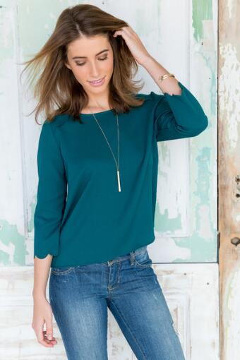 Natalee Scalloped Blouse